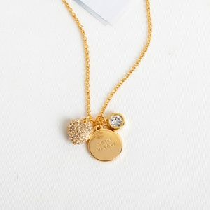 Kate Spade Crazy in Love charm necklace
